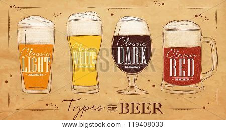Poster Types Beer Kraft