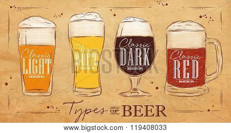 Poster Types Beer Kraft