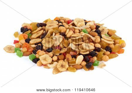 Heap Of Dried Fruits And Nuts