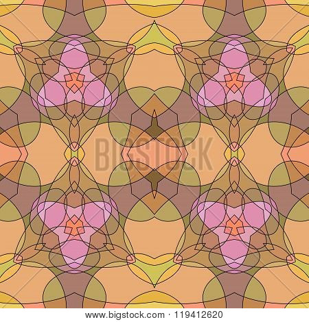 Stained-glass Seamless Background.
