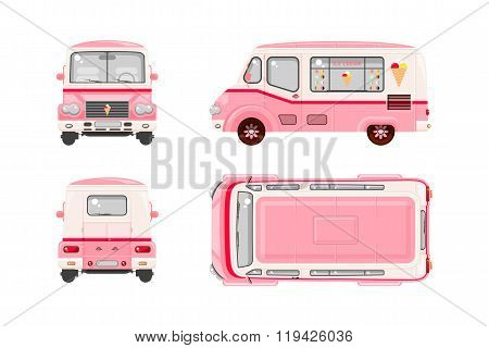 Pink Ice cream car