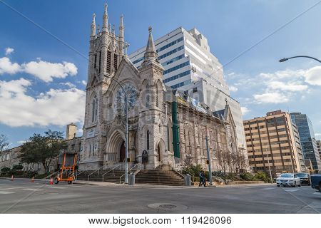 Austin, Tx/usa - Circa February 2016: St. Mary Cathedral In Austin,  Tx