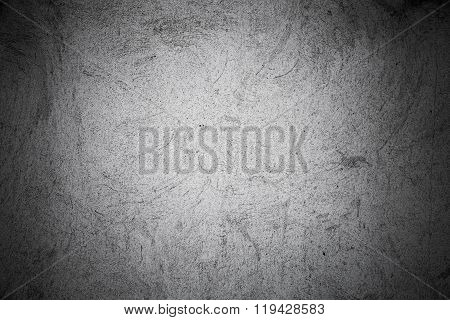 Gray Concrete Wall With Stucco Pattern, Spot Light