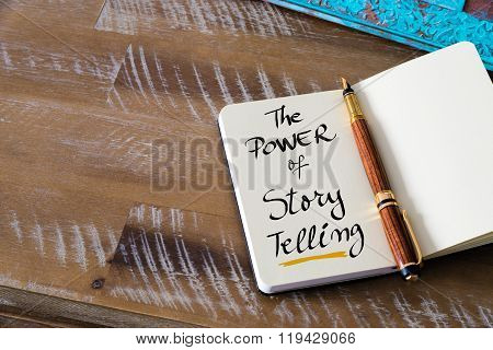 Handwritten Text The Power Of Story Telling