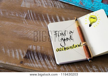 Written Text Find A Good Accountant