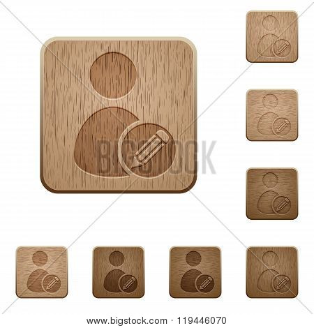 Edit User Profile Wooden Buttons
