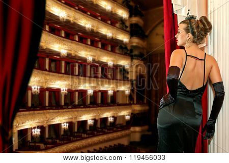 a girl in the theater