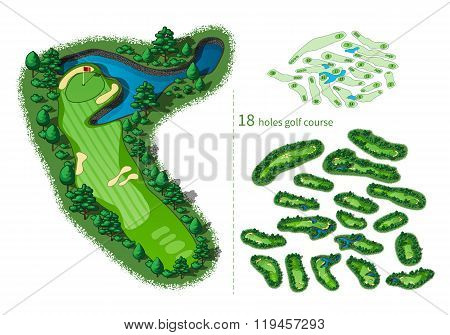 Golf Course Map 18 Holes