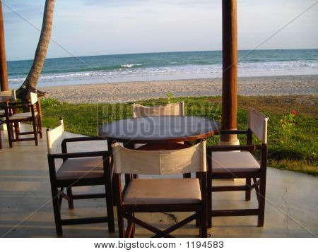 A Set Of Table Beside The Beach At Bintan Indonesia