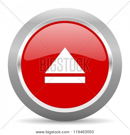 eject red chrome web circle glossy icon