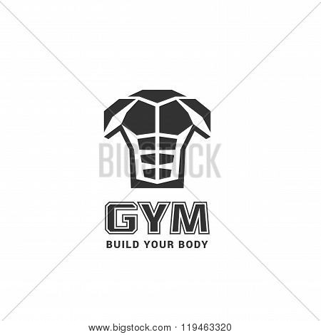 Gym logo template, vector illustration