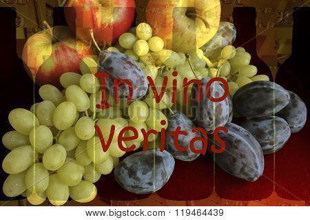 In Vino Veritas - Fruits And Bottles.