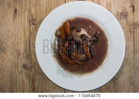 Coq au vin from above