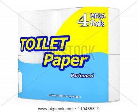 Four Roll Of Toilet Paper Package