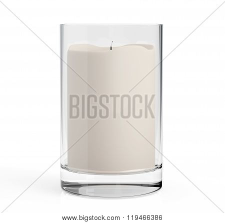 Candle With Glass Candlestick