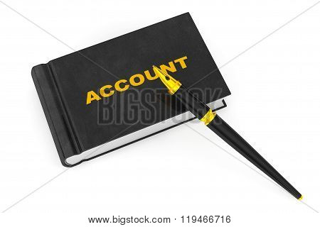 Business Account Book With Fountain Pen