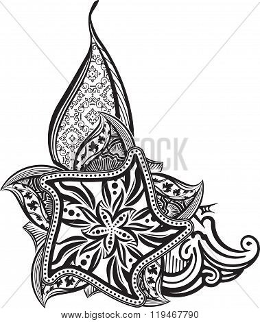 Beautiful Vintage Paisley Ornament, Mandala, Corner Can Be Used As A Greeting Card Or Decor For Henn