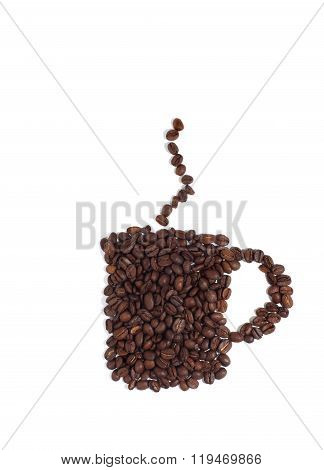 Coffee Cup Made Of Coffee Beans