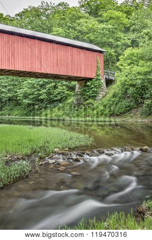Little Muskingum River And Hume Covered Bridge