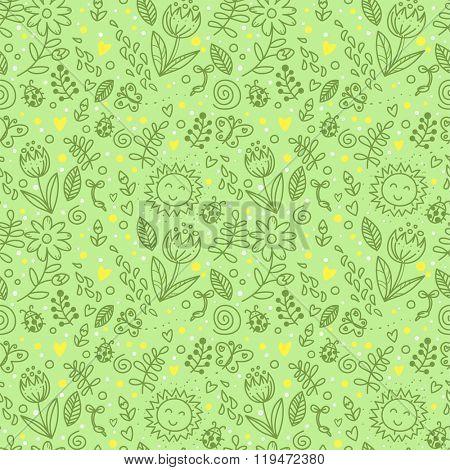 Spring seamless background
