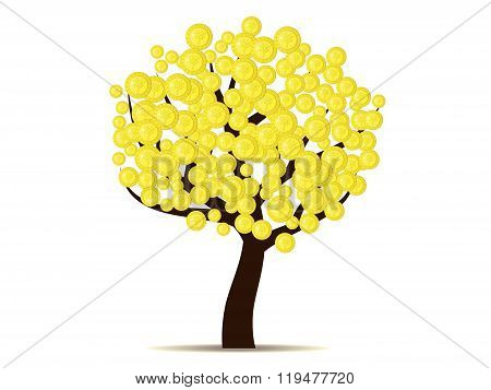 Money does grow on trees (gold coins on tree)