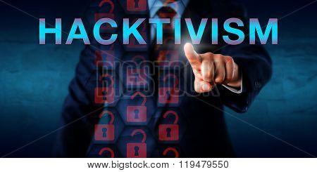White Collar Criminal Touching Hacktivism