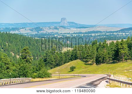 Highway And Devils Tower