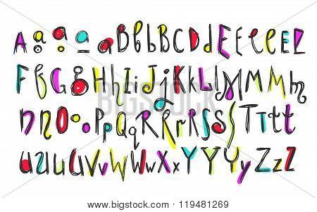 Doodle Colorful Kids Alphabet