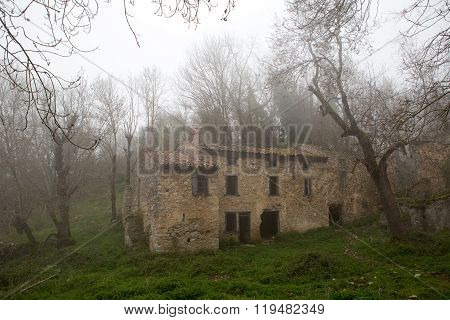 Abandoned village in Mountains of French Pyrenees