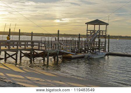Scenic Wrightsville Boat Dock