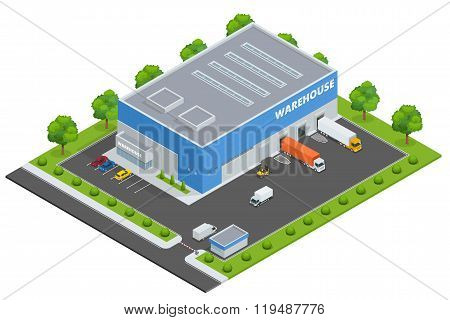 Set of flat vector on the theme of Logistics, Delivery,  Warehouse, Freight, Cargo, Transportation.