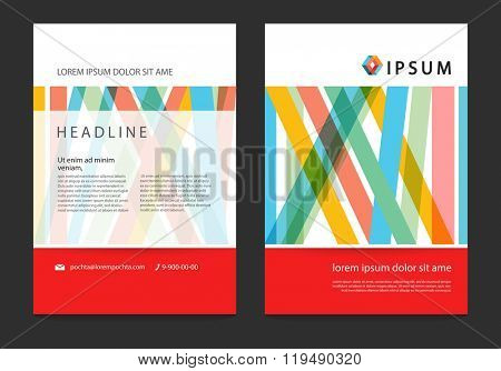Template business brochure, leaflet, flyer, report in A4 size. Vector EPS 10