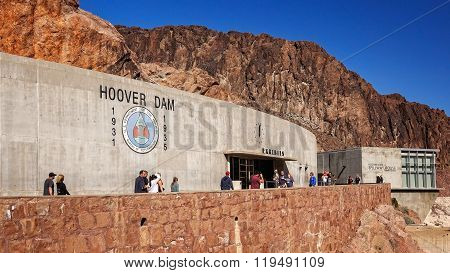 Tourists Visit Exhibition Hall At Hoover Dam