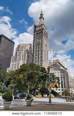 New York City, Ny/usa - Circa July 2015: New York  Clocktower