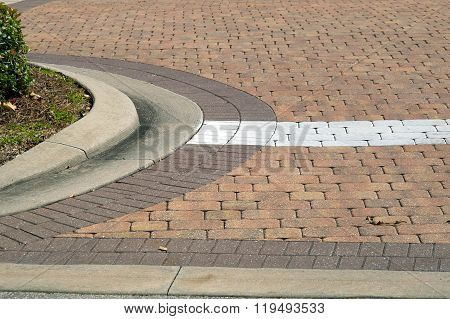 Curved Driveway With Painted Line
