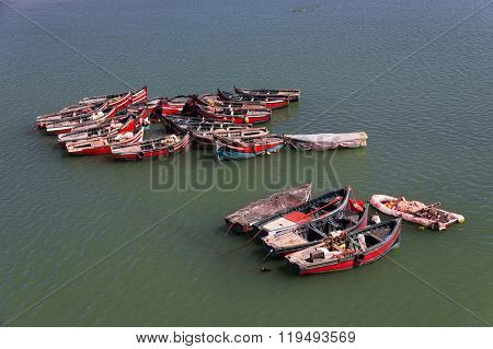 Fishing boats in El Jadida, Morocco, Africa