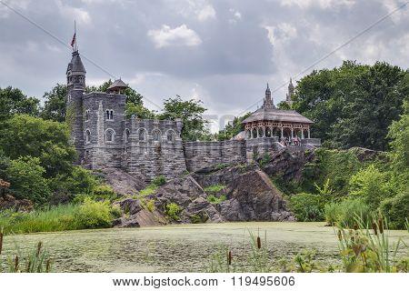 New York City, Ny/usa - Circa July 2015: Belvedere Castle In Central Park, New York  City