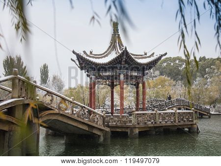 shady bower on the west lake in hangzhou,China