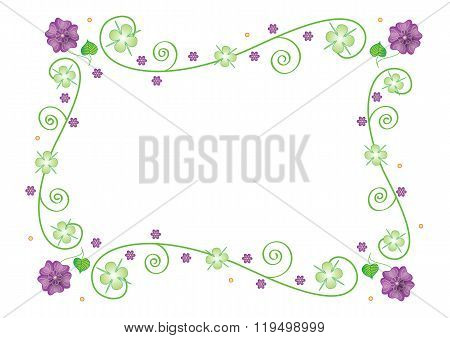 Spring abstract frame