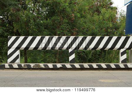 Concrete Road Fence