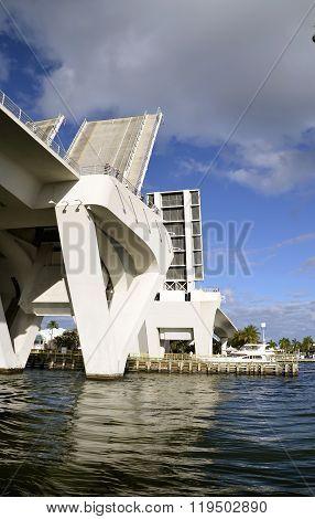 Raised lift bridge