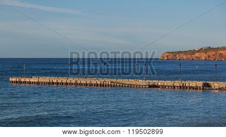 Boat dock near Perce Rock
