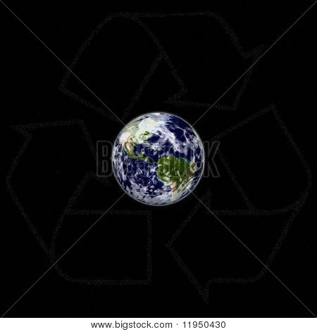 Recycle earth in space