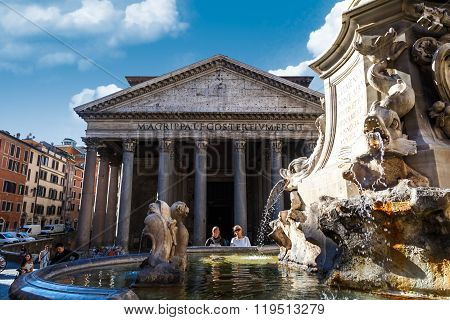 Front View Of Pantheon