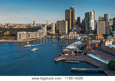 Sydney City Skyline And Harbour