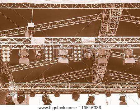 Stage Lights Vintage