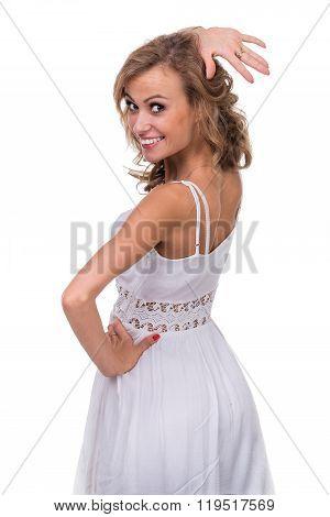 beautiful coquette young woman