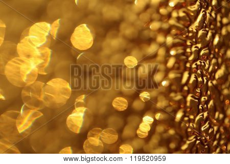 Sparkling golden backdrop