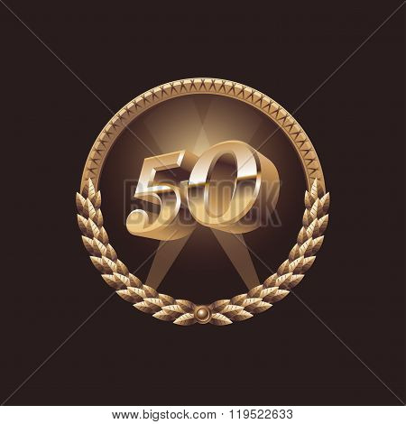 Fifty years anniversary celebration design