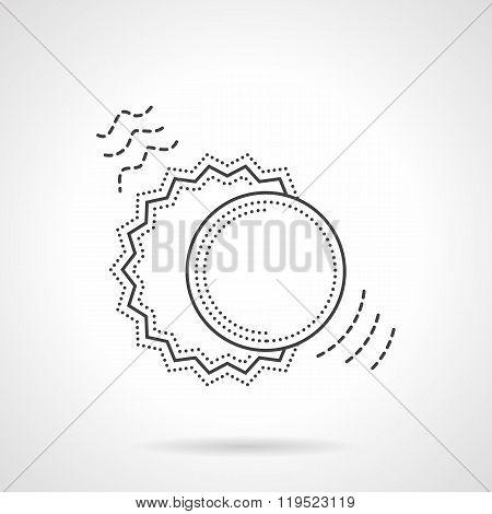 Sun and moon flat line design vector icon